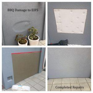 EIFS BBQ Damage Repair